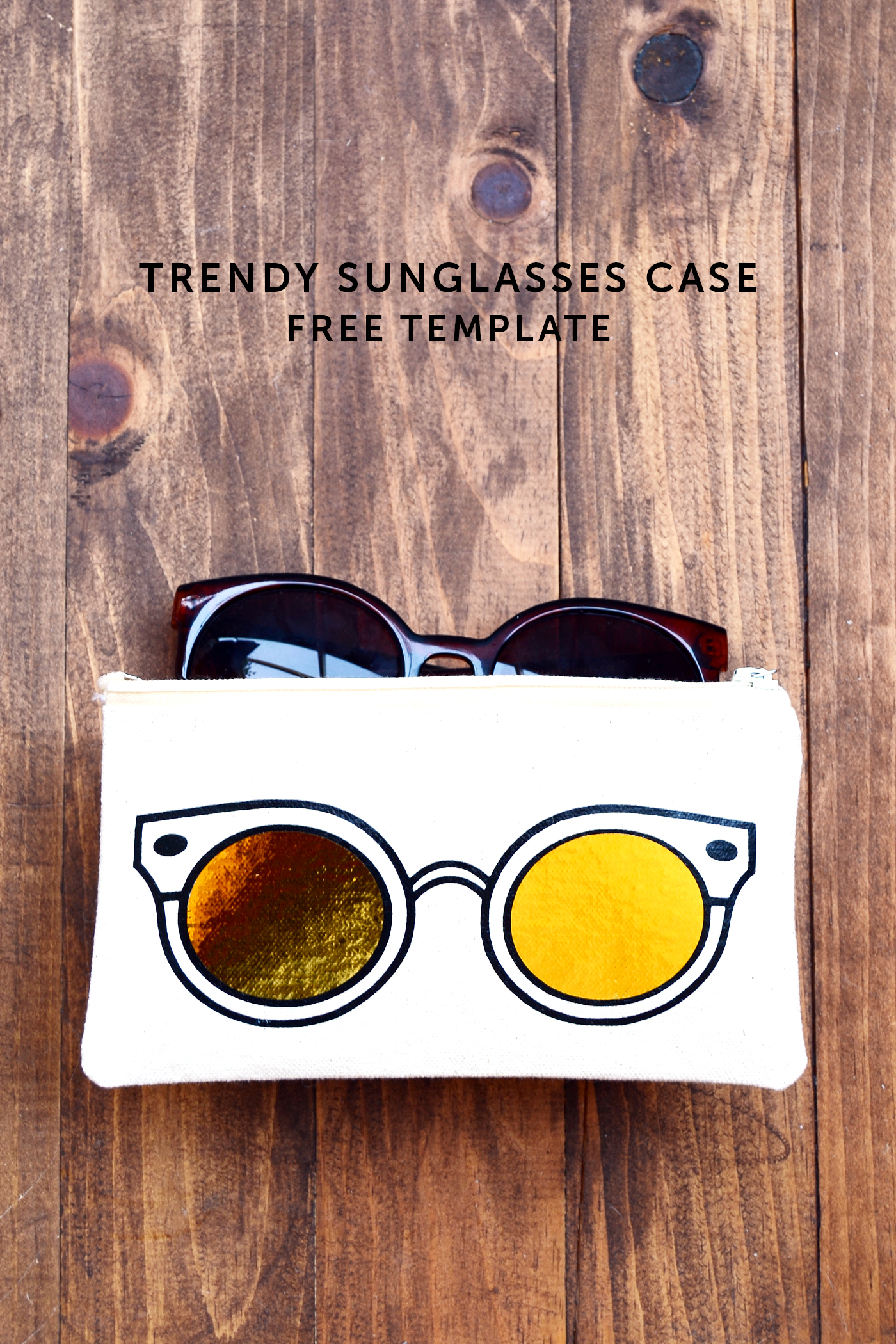 How To Make Sunglasses  trendy diy sunglasses case diycandy com