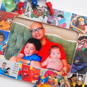 Father's Day Craft: Comic Book Frame