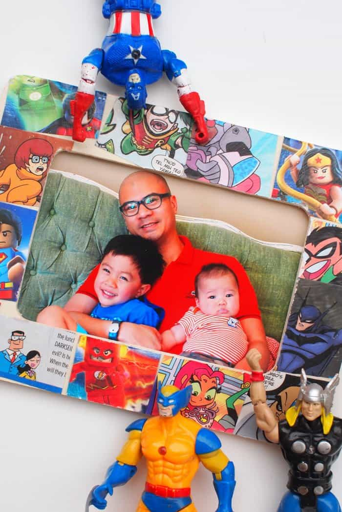 Father\'s Day Craft: Comic Book Frame - DIY Candy