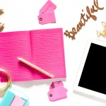 Beautiful- Notebook (Pink) & iPad 3