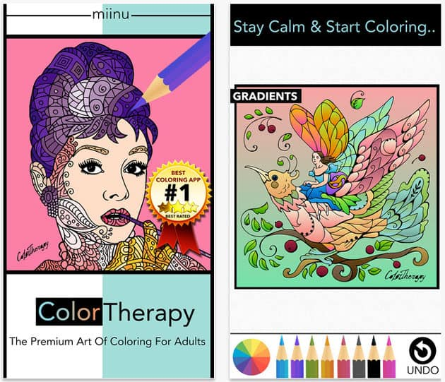 Coloring apps for adults - Color Therapy
