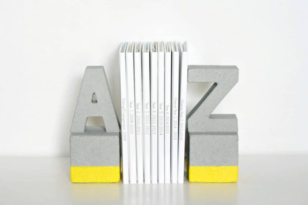 Faux Concrete Bookends You Won't Believe