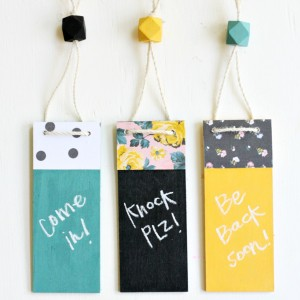 Decorative Chalkboard Door Hangers