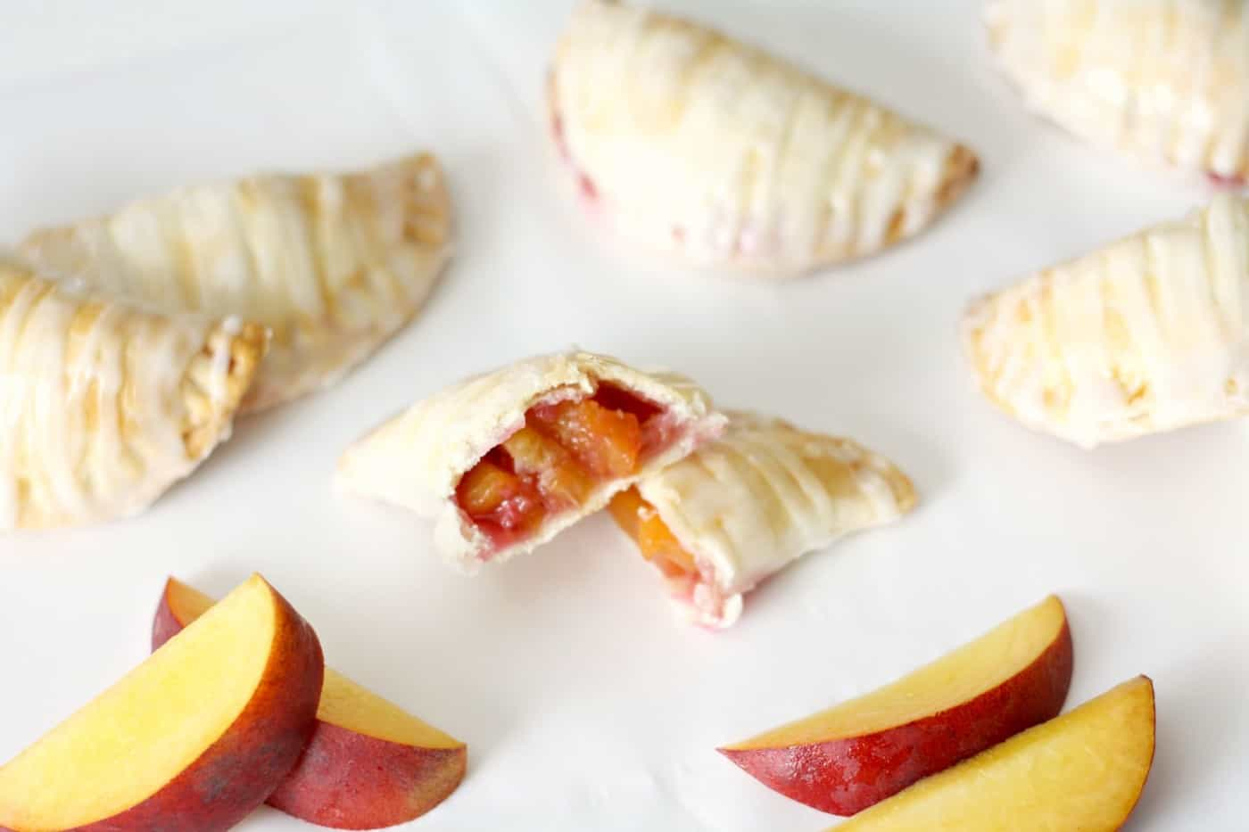 Delicious Peach and Raspberry Mini Pies
