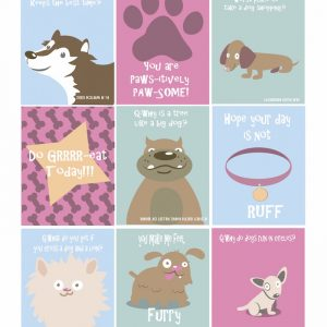 Dog Themed Lunch Box Notes