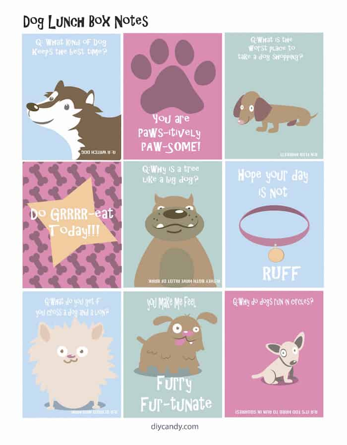 You'll love these cute FREE printable dog-themed lunch box notes. This is an easy idea to surprise kids and remind them that they're special!