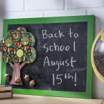 Create a unique woodland themed chalkboard with basic items from the craft store! This is perfect for a kids' room or back to school.