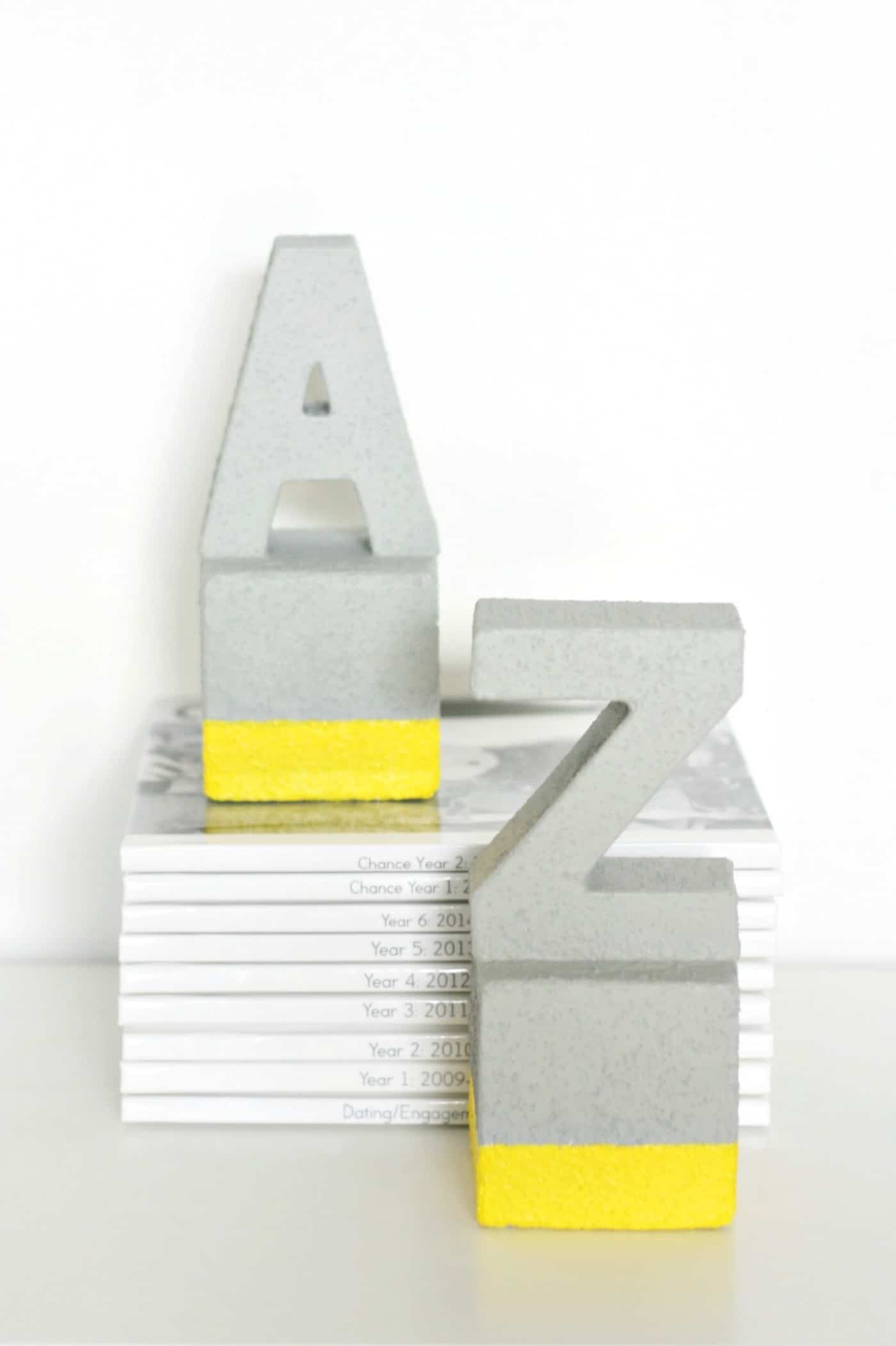 Faux Concrete DIY Bookends You Won't Believe