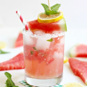 Sparkling Watermelon Mint Homemade Lemonade