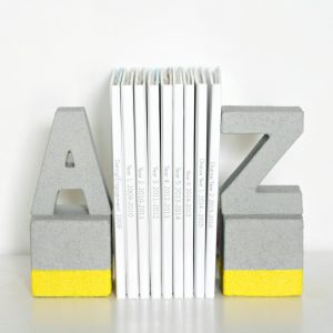 Faux Concrete DIY Book Ends