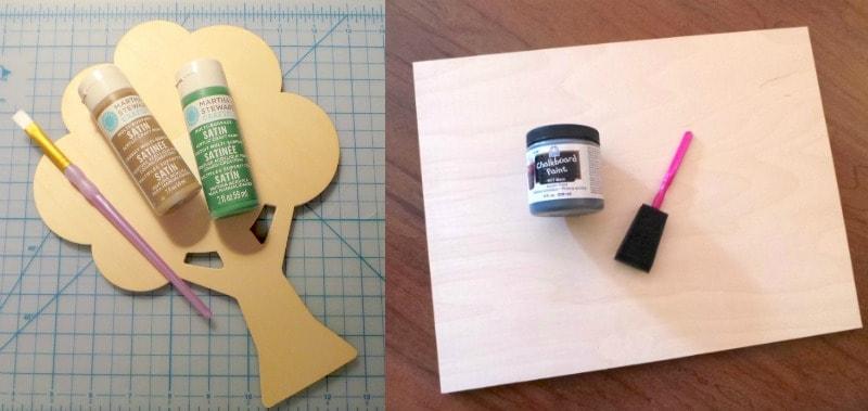 Woodland chalkboard materials