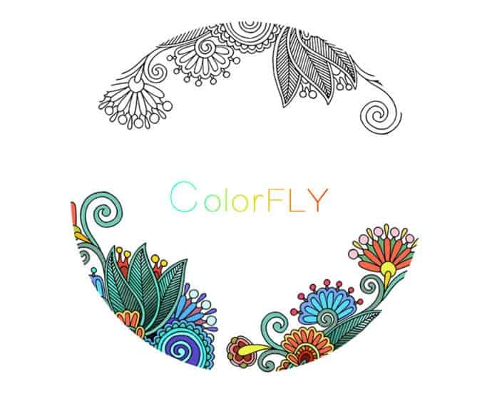 Coloring apps for adults - Colorfly