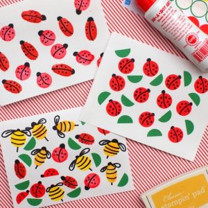 These bug cards are the perfect summer crafts for kids! Make them easily with stickers, ink pads, and other simple supplies. Children will love making them!
