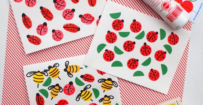 Summer Crafts for Kids: Bug Cards
