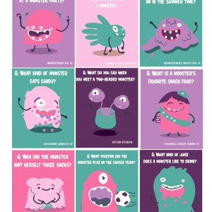 Cute Monster Lunch Box Jokes