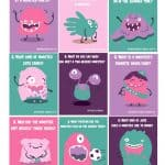 Cute lunch box jokes with a monster theme