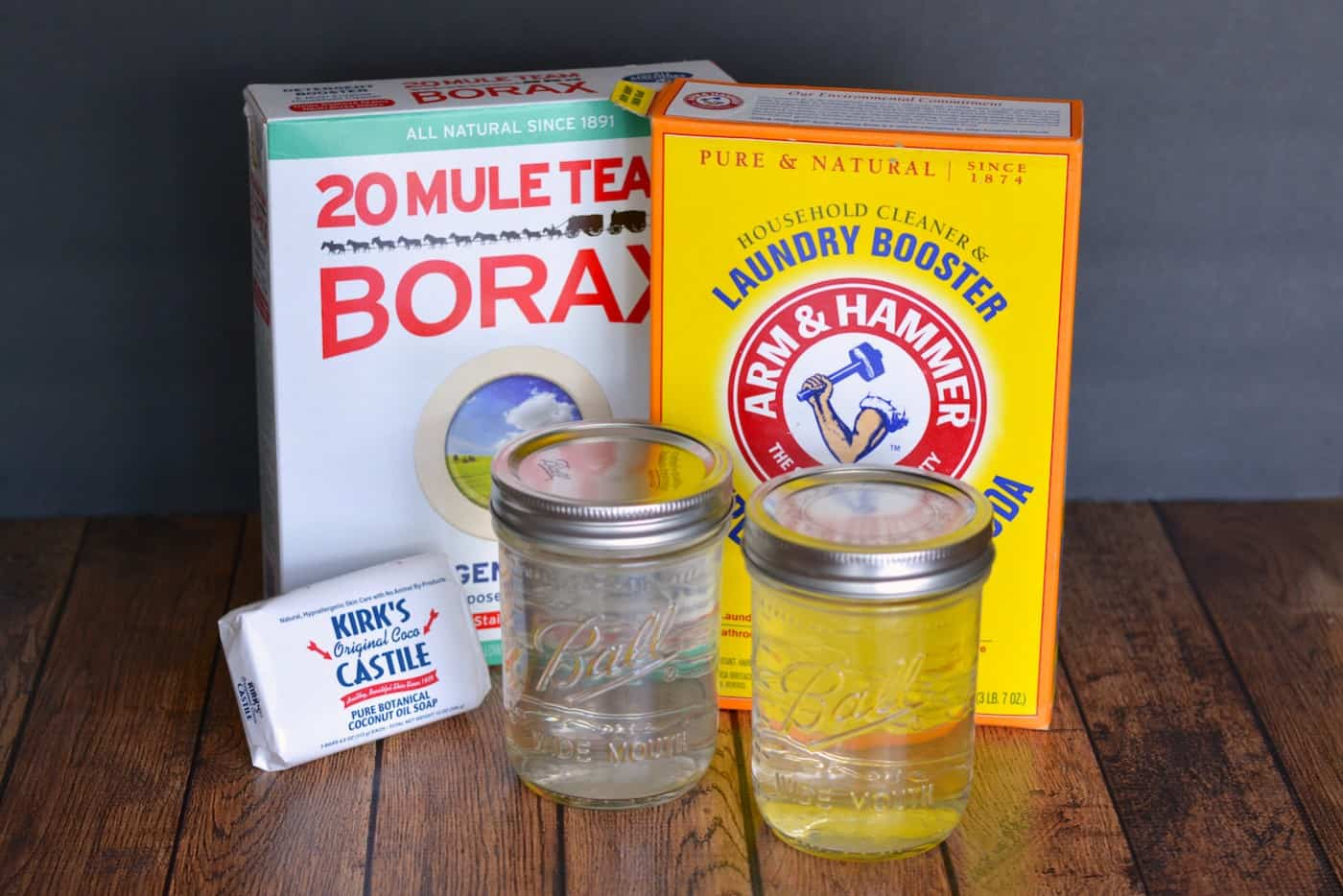 Make this easy (and budget friendly) homemade laundry detergent recipe - it's liquid! No chemicals, dyes, or additives and it's perfect for sensitive skin.