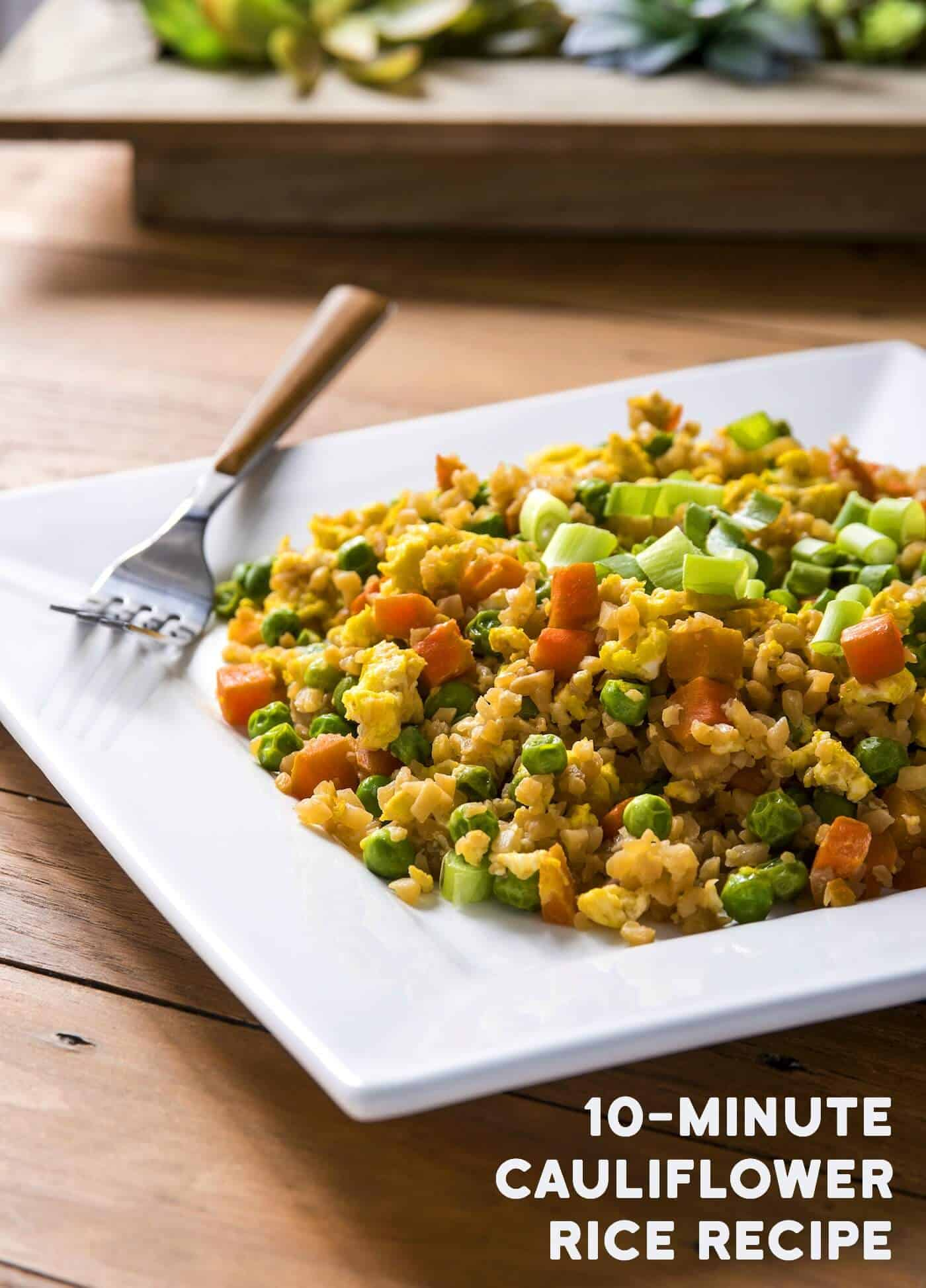 Are you looking for a low calorie, delicious dinner that is good for you? Try this cauliflower rice recipe - loaded with veggies and flavor!