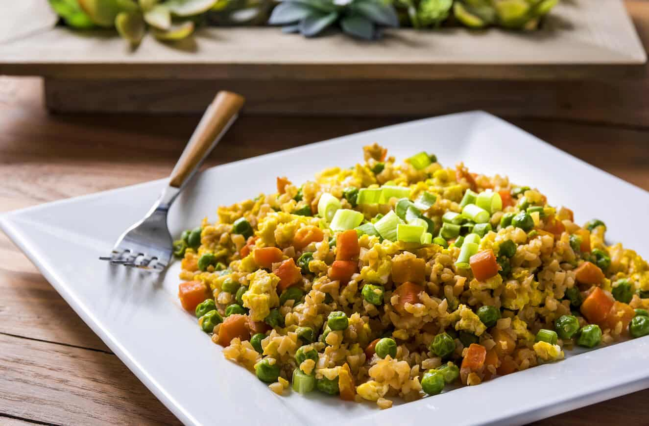 Cauliflower rice recipe - fried rice with veggies