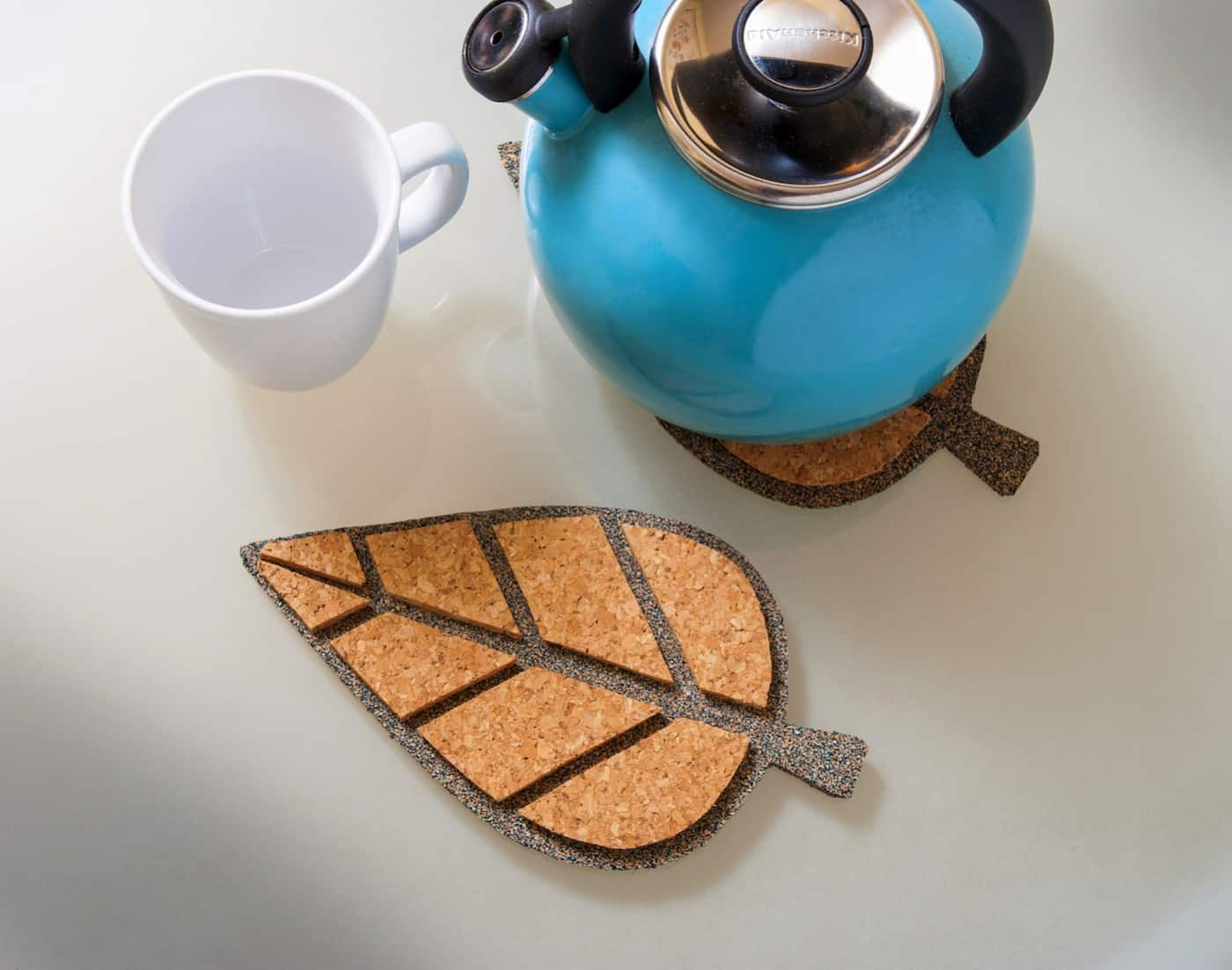How to Make Leaf Cork Trivets in Four Easy Steps
