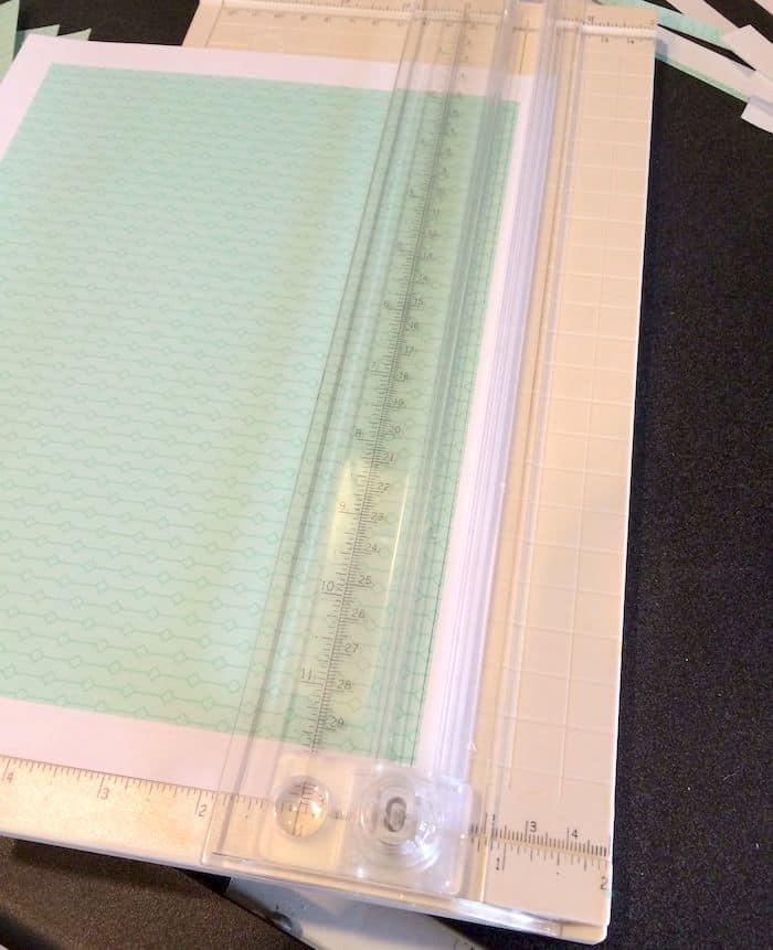 Trimming paper using a paper cutter
