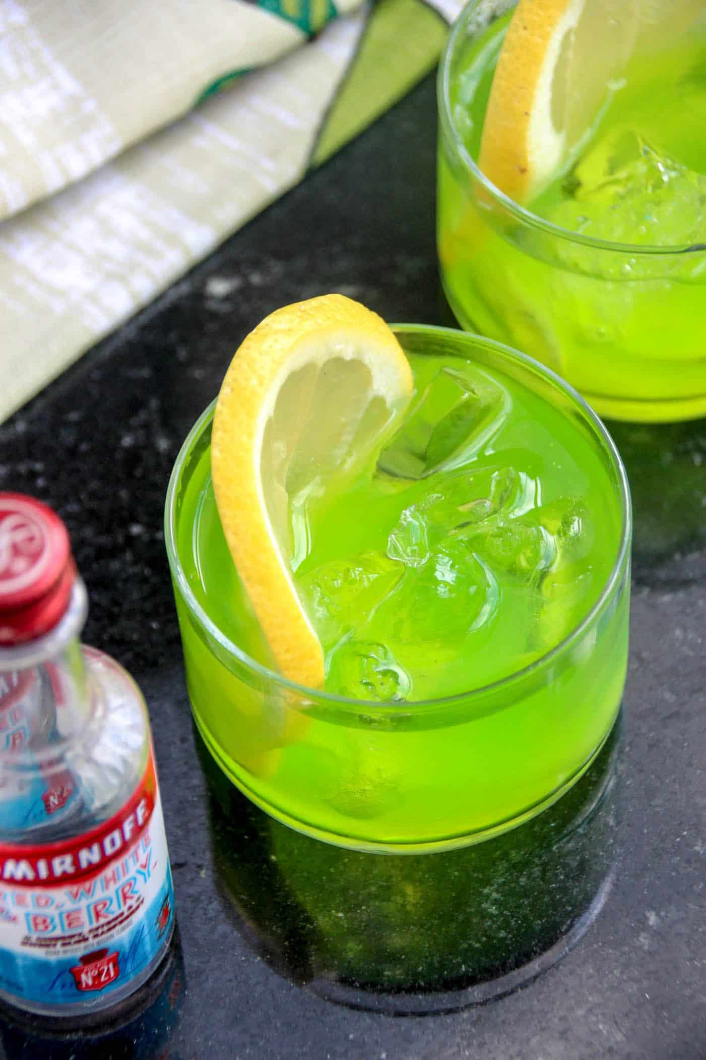 Ectoplasm has never been this delicious! These Ghostbusters Slimer themed vodka cocktails are so fun - and tasty too. Make for a movie watching party!