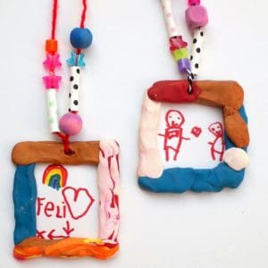 Clay Crafts for Kids: Portrait Necklaces