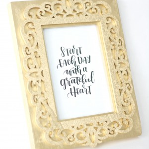 Make a 14K Gold DIY Picture Frame