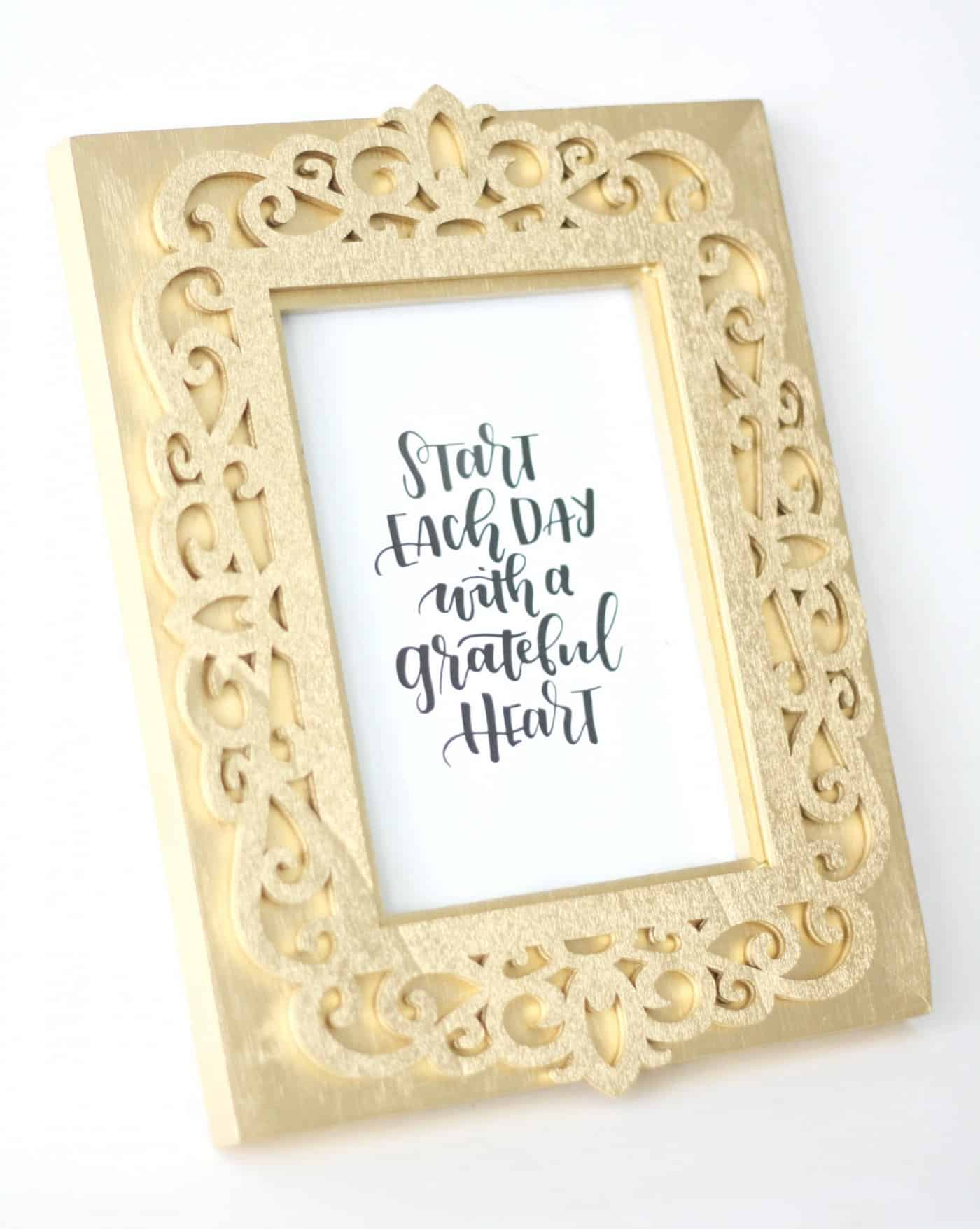 This DIY picture frame is such an eye catching project! Use spray paint to make it look like 14k gold. Very easy and very budget friendly!