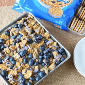 Delicious Blueberry Pie Oreo Poke Cake