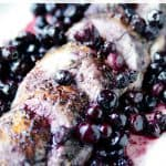 Roast Pork Loin with Spicy Blueberry Glaze