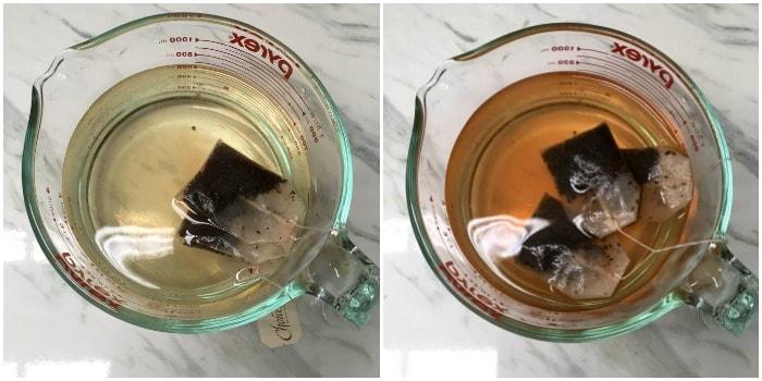 Mixing tea