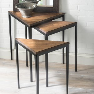 Revamp Nesting Tables with Vinyl Flooring