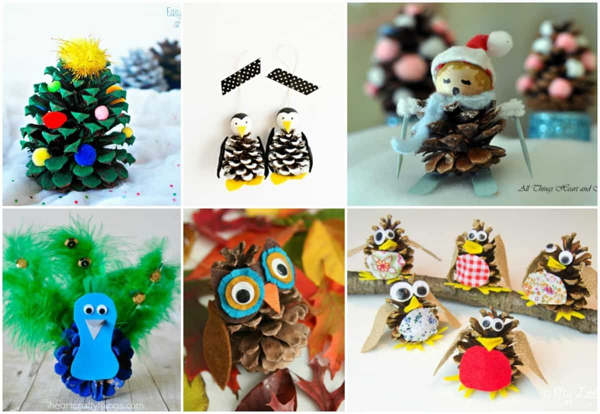 20 of the cutest pine cone crafts for kids diy candy for Pine cone crafts for children