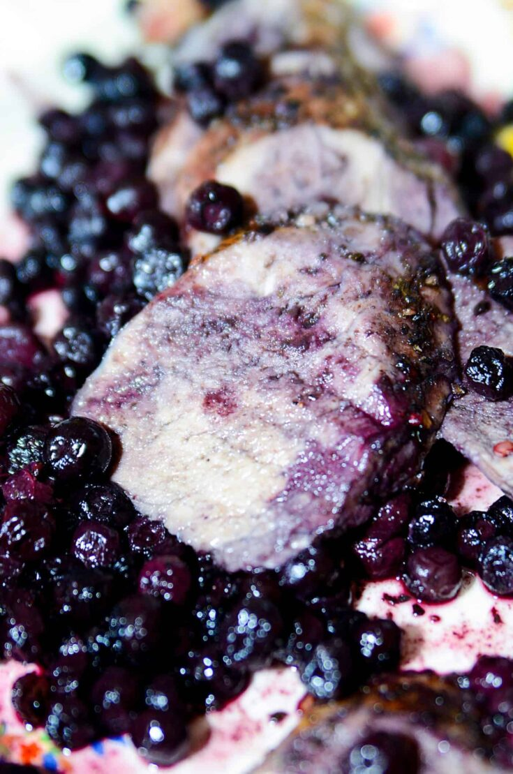 Pork roast recipe sliced into pieces