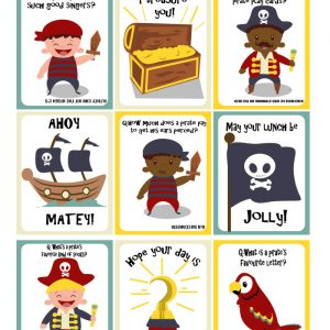 Ahoy Matey – Pirate Lunchbox Notes