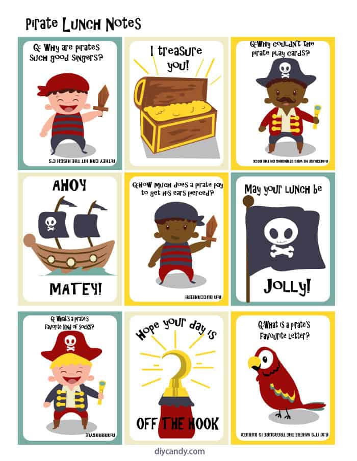 You'll love these cute FREE printable pirate-themed lunchbox notes. This is an easy idea to surprise kids and remind them that they're special!
