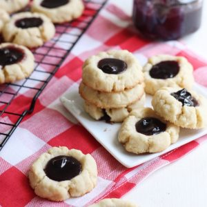 Blueberry Lemon Jam-Filled Thumbprint Cookies