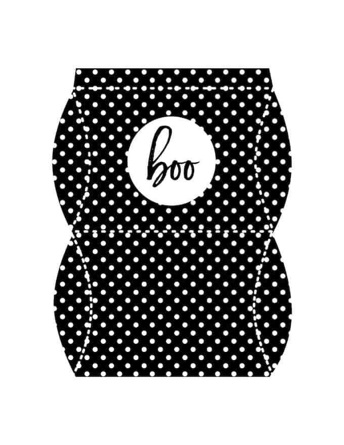 Free Halloween printables pillow box