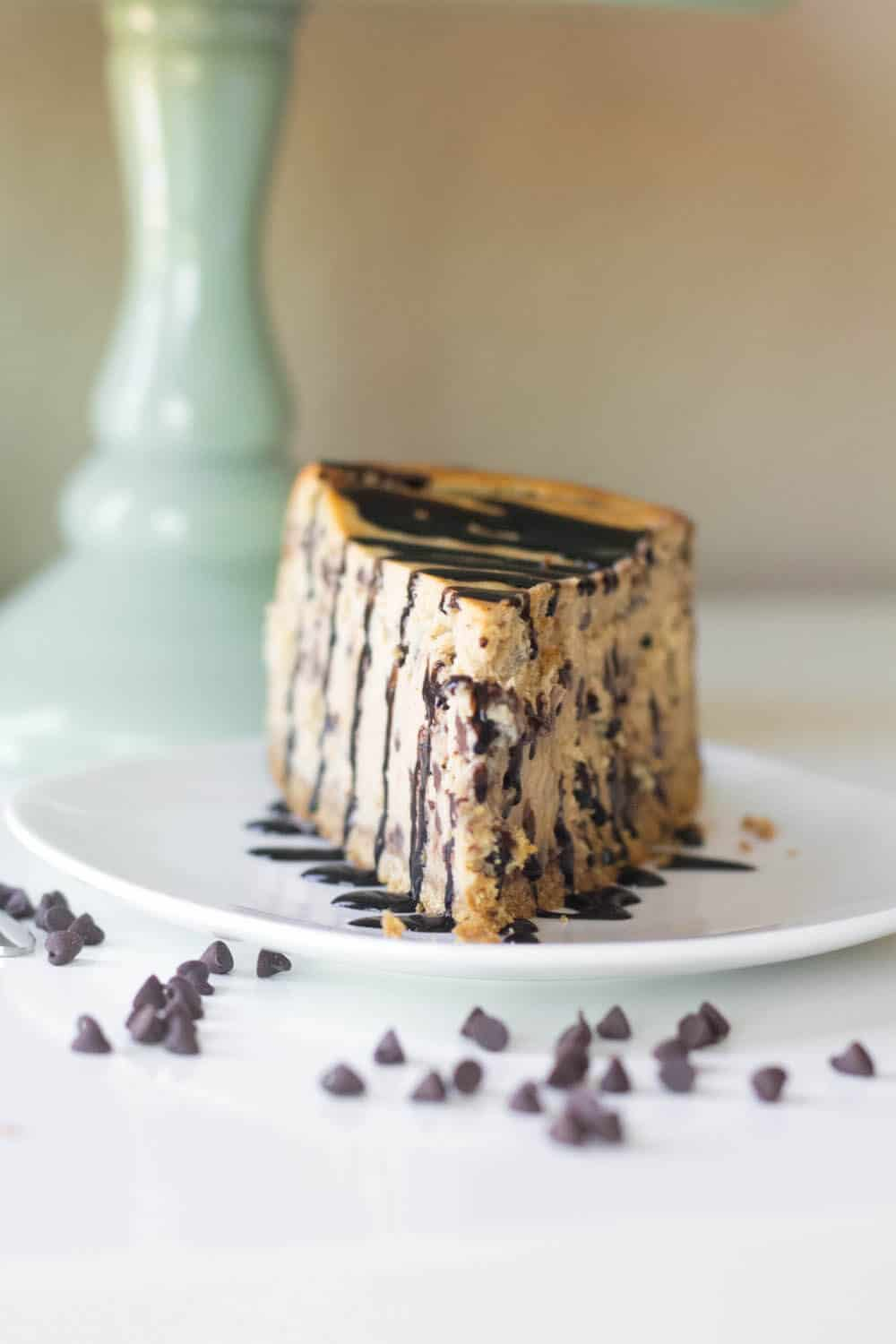 This amazing cheesecake recipe will be the best you've ever tasted! Think decadent cookie dough in a rich and creamy base. It's a definite crowd pleaser.