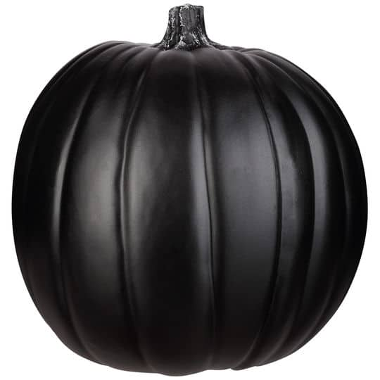 Black faux pumpkin from Michaels