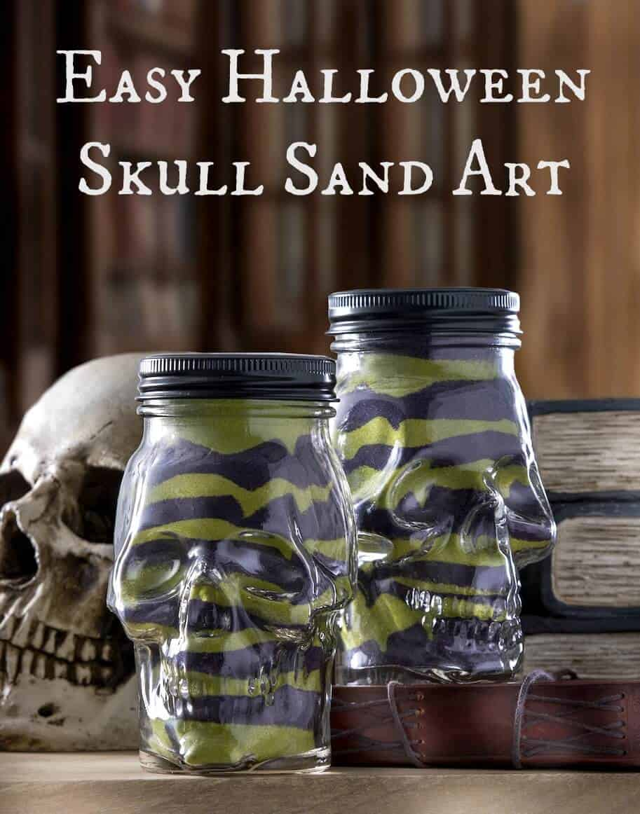 Incredibly Easy Halloween Skull Sand Art