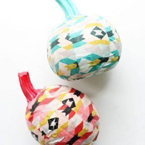Easy Aztec Fabric Covered Pumpkins