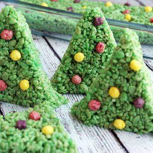 Christmas Tree Rice Krispy Treat Recipe