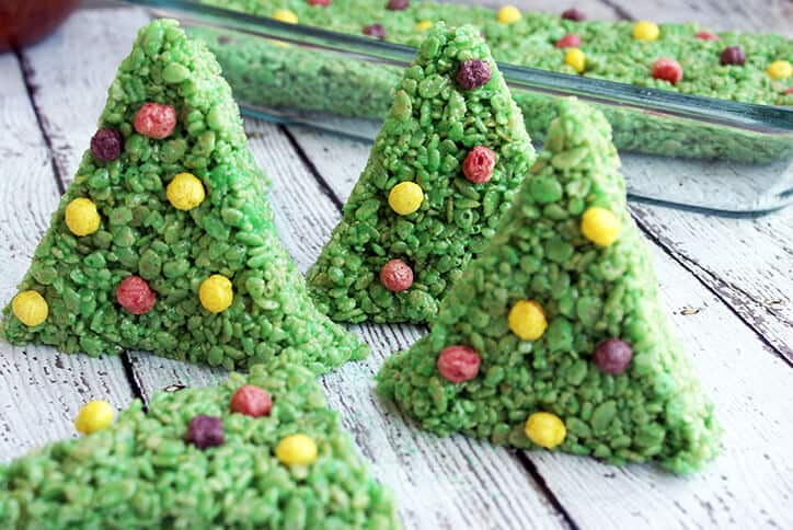 christmas tree rice krispy treat recipe - Christmas Rice