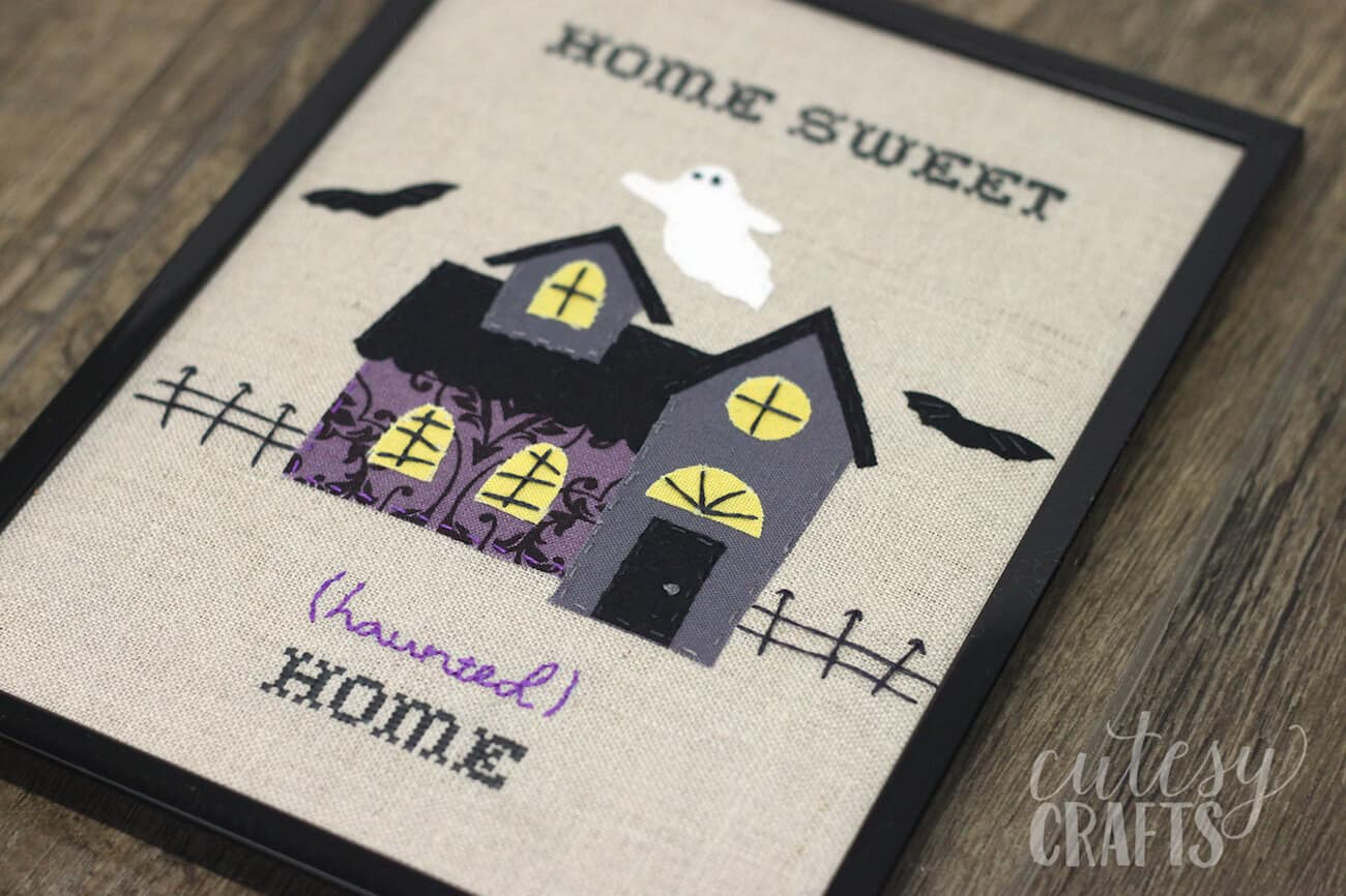 Home Sweet Haunted Home Halloween Embroidery
