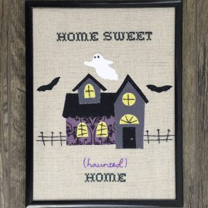Haunted House Halloween Embroidery