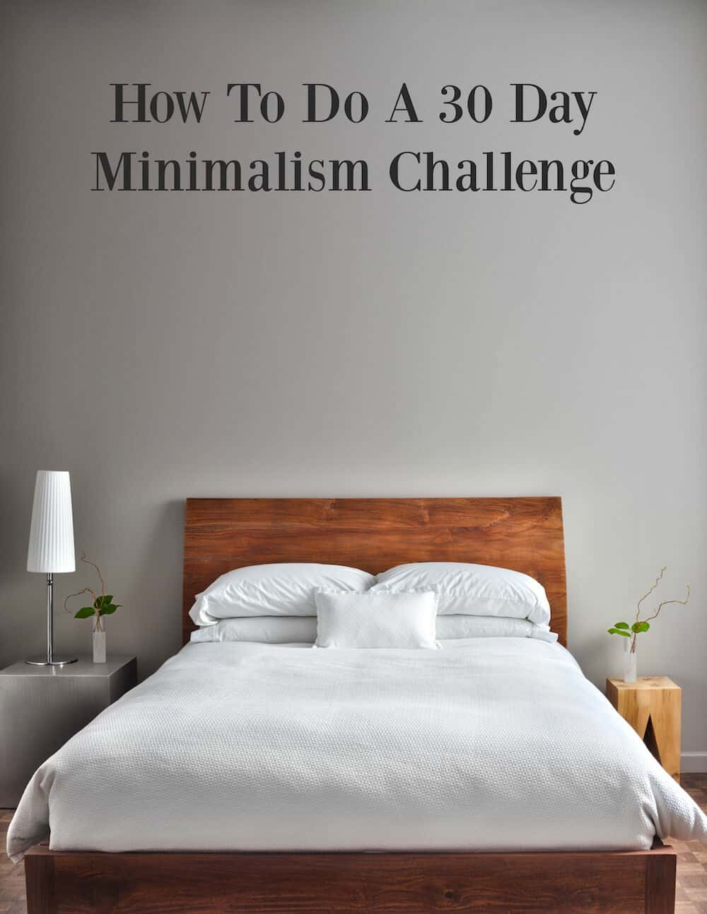 Are you interested in minimalist living? Try it for 30-days. You don't have to get rid of all of your possessions to participate, and it helps with clutter!