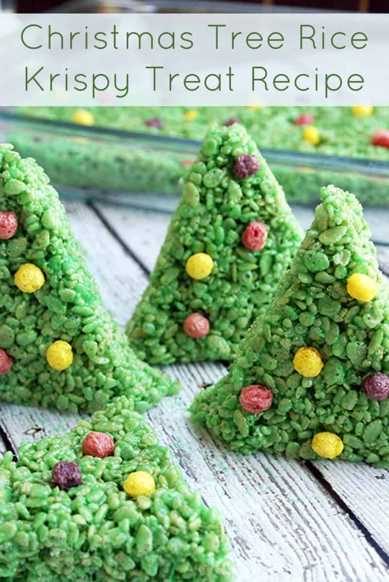 this rice krispy treat recipe makes the cutest christmas trees ever perfect for the holidays