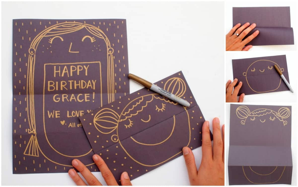 It's always fun finding greeting cards that surprise you! Make someone happy with these smiling face DIY cards with an unexpected message inside.
